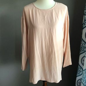Eileen Fisher sandwashed silk charmeuse top SZ s/m
